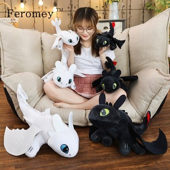 20/25/35/45/60cm How To Train Your Dragon 3 Toothless Anime Figure Night Fury Light Toy Plush Doll Toys For Children