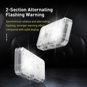 Image 5 - Baseus 2Pcs 6 LEDsเปิดประตูไฟเตือนความปลอดภัยAnti Collisionไฟฉุกเฉินรถแฟลชไฟสัญญาณ