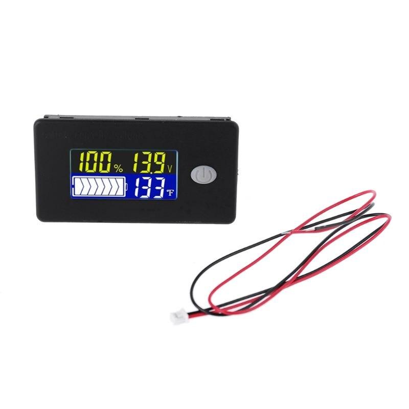 Универсальный индикатор емкости батареи 12 В, 24 В, 36 В, 48 В, 60 в, 72 в, 10-100 в, монитор свинцово-кислотных батарей li-ion, Lifepo4 с датчиком температуры