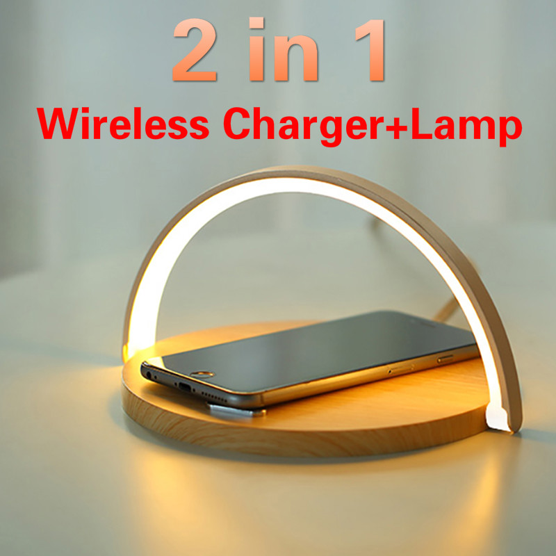 Fast Qi Wireless Charger Table Lamp for iPhone 8 X XR XS 11 PRO Max Samsung