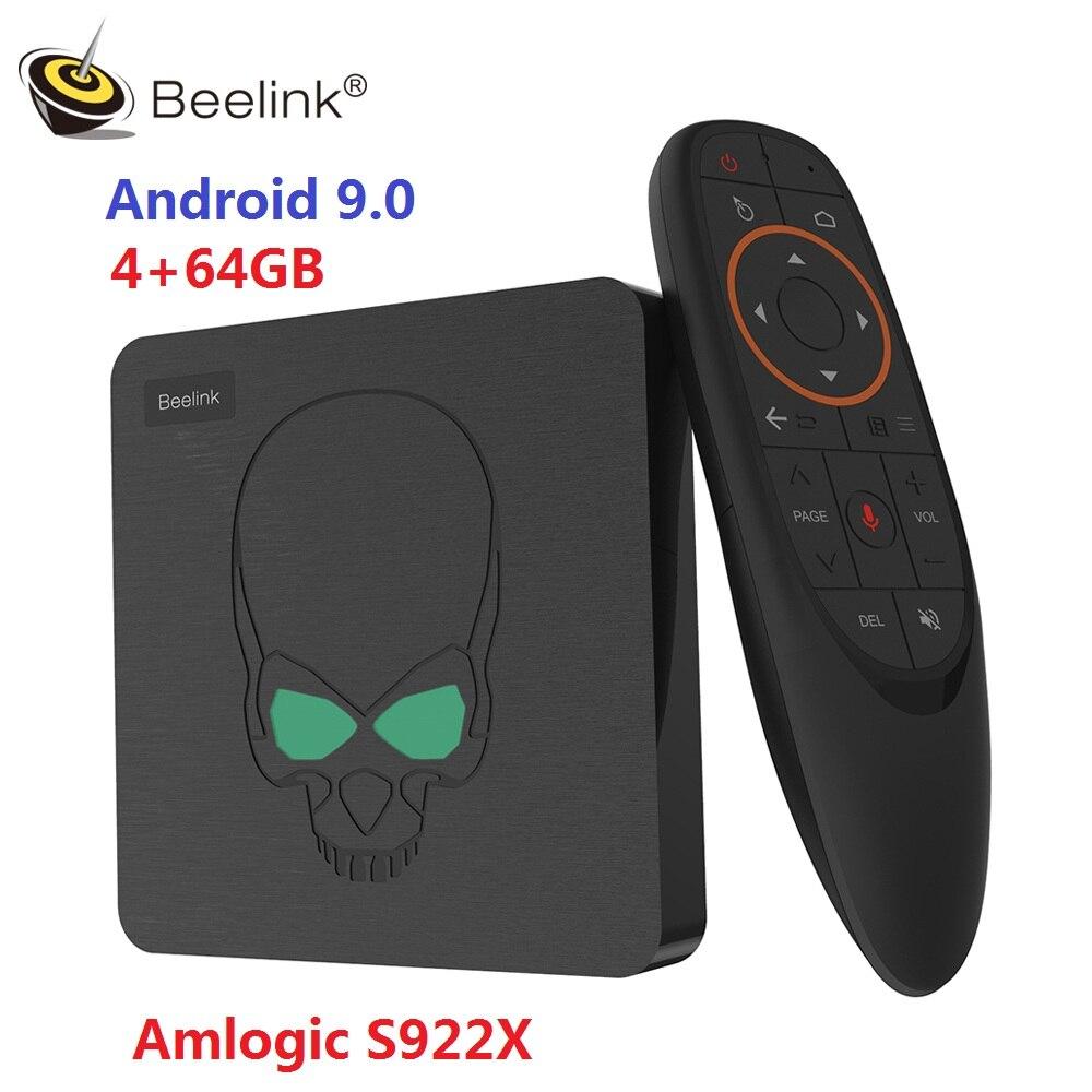 Beelink GT King TV Box Android 9.0 Amlogic S922X Hexa-core G52 MP6 Graphics 4GB LPDDR4 64GB ROM 5.8G WiFi Bluetooth 4.1 4K 75hz(China)
