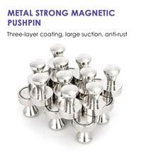 Silver Neodymium Magnet Magnetic Pushpin  6pcs Fridge Magnet Whiteboard Magnets For Home Office School Fine Workmanship