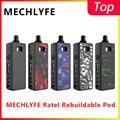 Оригинальный Vape Pod Комплект MECHLYFE Ratel Rebuildable Pod kit 4 мл rebuildable pod by 18650 батарея vs pasito pod MTL/DTL pod vape