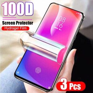 Image 1 - 3 pièces 100D couverture complète Hydrogel Film pour Xiaomi 9T Pro 8 Lite 9 SE cc9 protecteur décran pour Xiaomi A1 A2 A3 Lite Film de protection