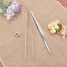 Kitchen Tweezers Bbq-Tool Stainless-Steel Straight Home Long Food-Tongs Barbecue Garden