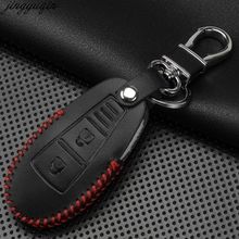 2 Buttons Leather Remote Car Key Case Cover For Nissan Qashqai J10 J11 X-Trail t31 t32 kicks Tiida Pathfinder Murano Note Juke newest car decoration nismo motorsport aluminum stickers decals for nissan tiida teana skyline juke x trail almera qashqai