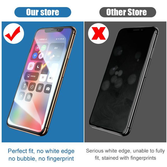 3PCS Full Cover Tempered Glass On the For iPhone 7 8 6 6s Plus X Screen Protector On iPhone X XR XS MAX SE 5 5s 11 12 Pro Glass 5