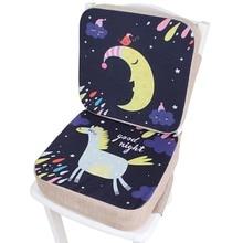 Pad Cushion Dining-Chair Seat Adjustable Baby's Heighten Cartoon Hard Thicken Student