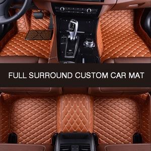 Image 1 - HLFNTF מלא להקיף custom רכב רצפת מחצלת עבור פולקסווגן פולקסווגן פאסאט b5 טוראן 2005 טוארג פולו סדאן גולף שרן רכב אבזרים