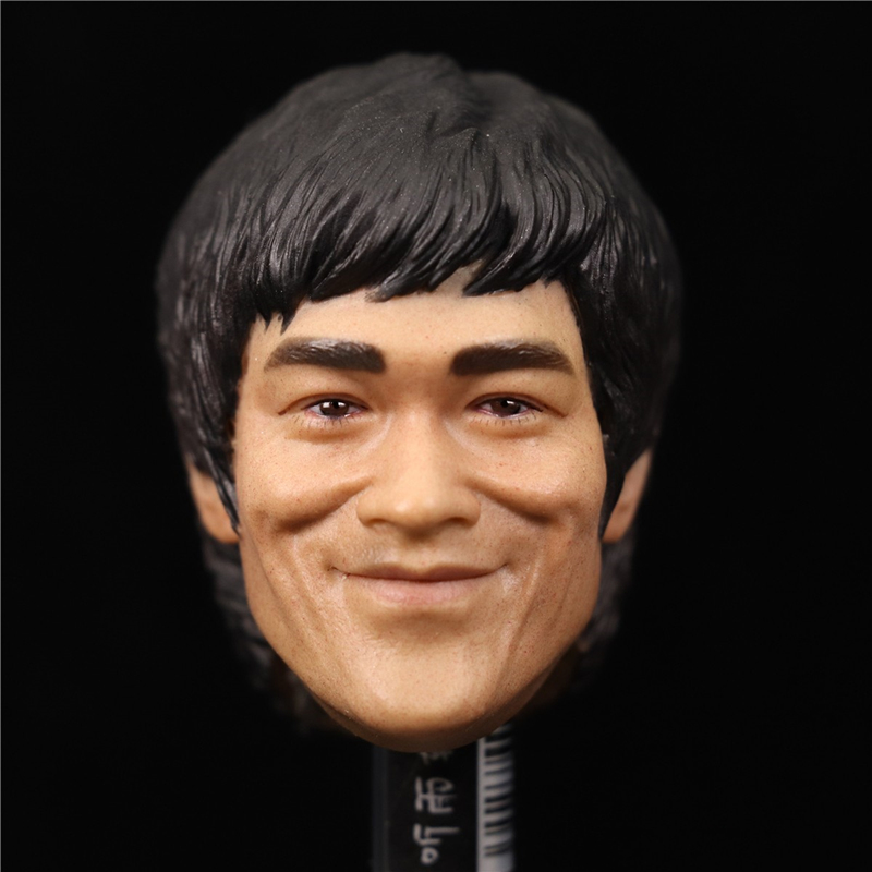 1/6 Scale Bruce Lee Head Sculpt Asian Kung fu Star Head for 12 inches <font><b>Action</b></font> <font><b>figure</b></font> <font><b>Body</b></font> Doll Collections image