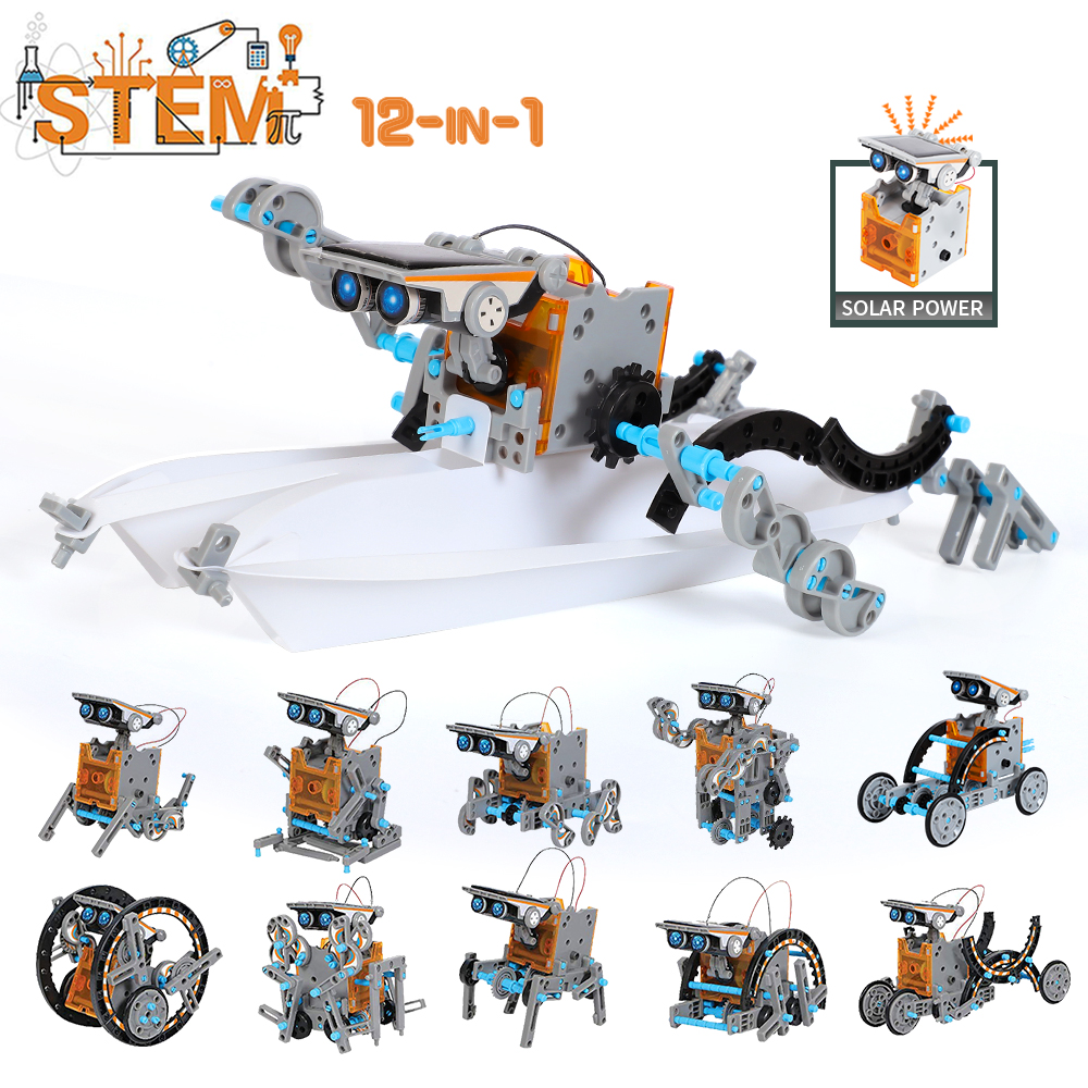 Science Kits Toys Solar Technology Robot Educational Learning Scientific Toy For Children Suit For 6-12 Years Old
