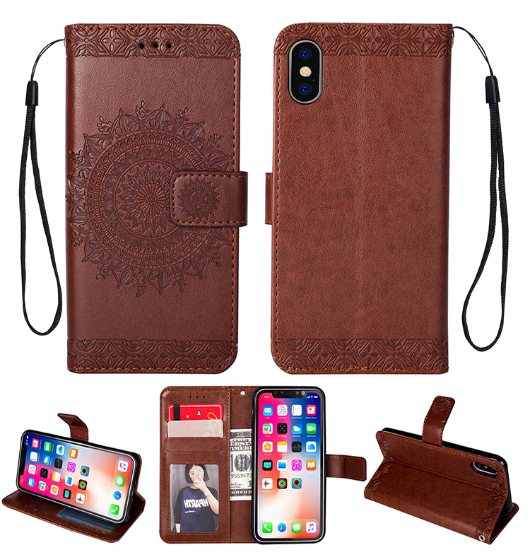 Luxury Wallet Flip Totem pattern Case For Apple iPhone 11 Pro Max 2019 X XR XS MAX 8 7 6 6S Plus 5 5S SE Leather Global Case