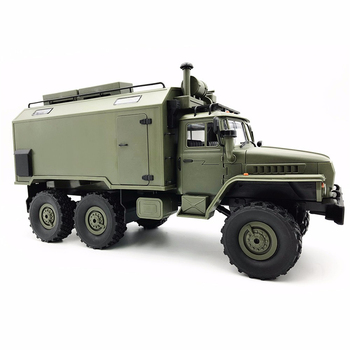 WPL B36 Ural 1/16 2.4G 6WD RC Truck Military Car Rock Crawler Communication Vehicle RTR Toy Auto Army Trucks Boy