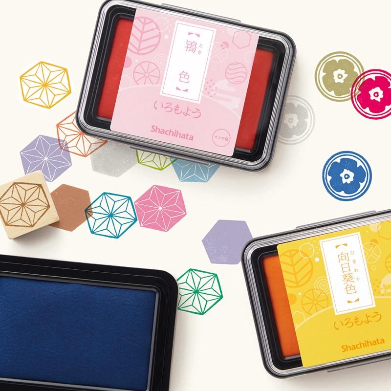 1pc Japanese Original Shachihata Stamp Pad Inkpad Printing Color Pigment Ink Pad  Pigment Making Greeting Cards Scrapbook