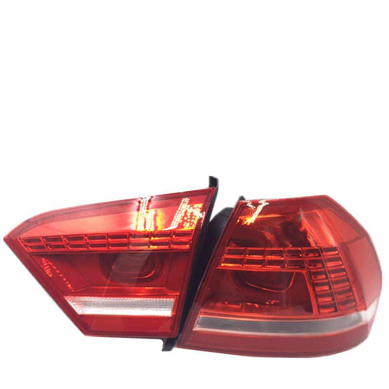 سيارة التصميم ل فولكس فاجن باسات B5 B7 الضوء الخلفي 2011 2012 2013 2014 2015 باسات LED لمبة خلفية DRL + بدوره إشارة + الفرامل + عكس