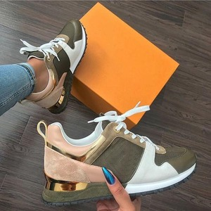 New Fashion Women's Sneakers Leopard Print Leather Thick Bottom Increased Sneakers Casual Comfortable Sports Shoes For Ladies