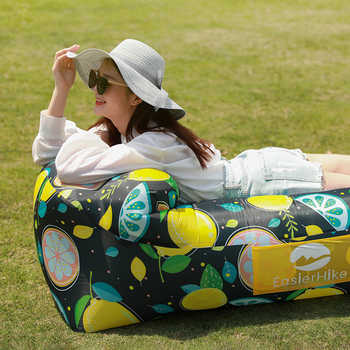 Inflatable Lounger Outdoor Camping Sofa Portable Beach Air Sofa Recliner Traveling Picnics Inflatable Couch Garden Furniture