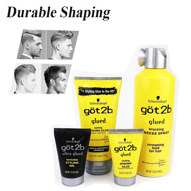 Hair Gel Hair Styling Got2b Waterproof Hair Styling Products Hair Custom Shape Glued 150ml Makeup Stage Salon Hair Style