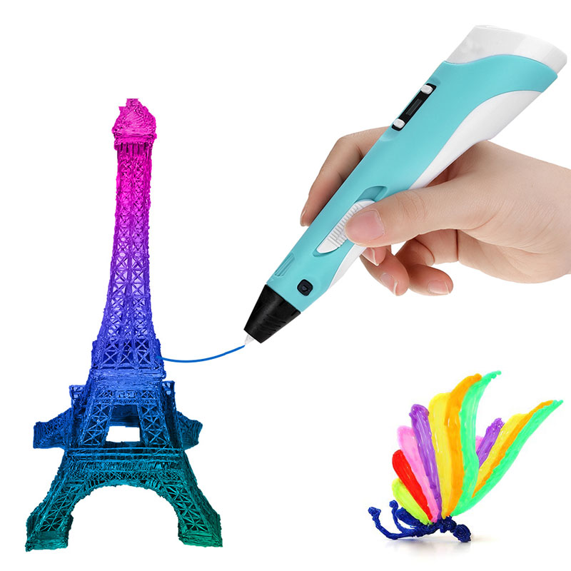 RUYAGE 3D Pen DIY 3D Printer Pen Drawing Pens 3d Printing Best for Kids With ABS Filament 1.75mm Chr