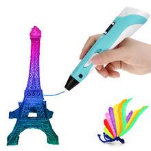 Ruyage 3d caneta diy impressora 3d caneta desenho canetas impressão 3d melhor para crianças com filamento abs 1.75mm natal presente de aniversário LJ-01