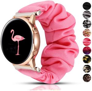 Scrunchie Elastic Watch Band for Samsung Galaxy S3 Frontier Watch 46mm/42mm active 2/huawei watch gt 2/amazfit bip 20/22mm strap