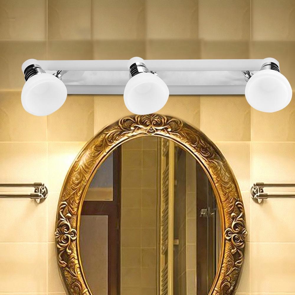 Led ウォールライト 180 260V 浴室ミラーテーブルランプバニティ照明 Inddor バスキャビネットミラーランプ 3 ヘッド洗面所トイレメイク -