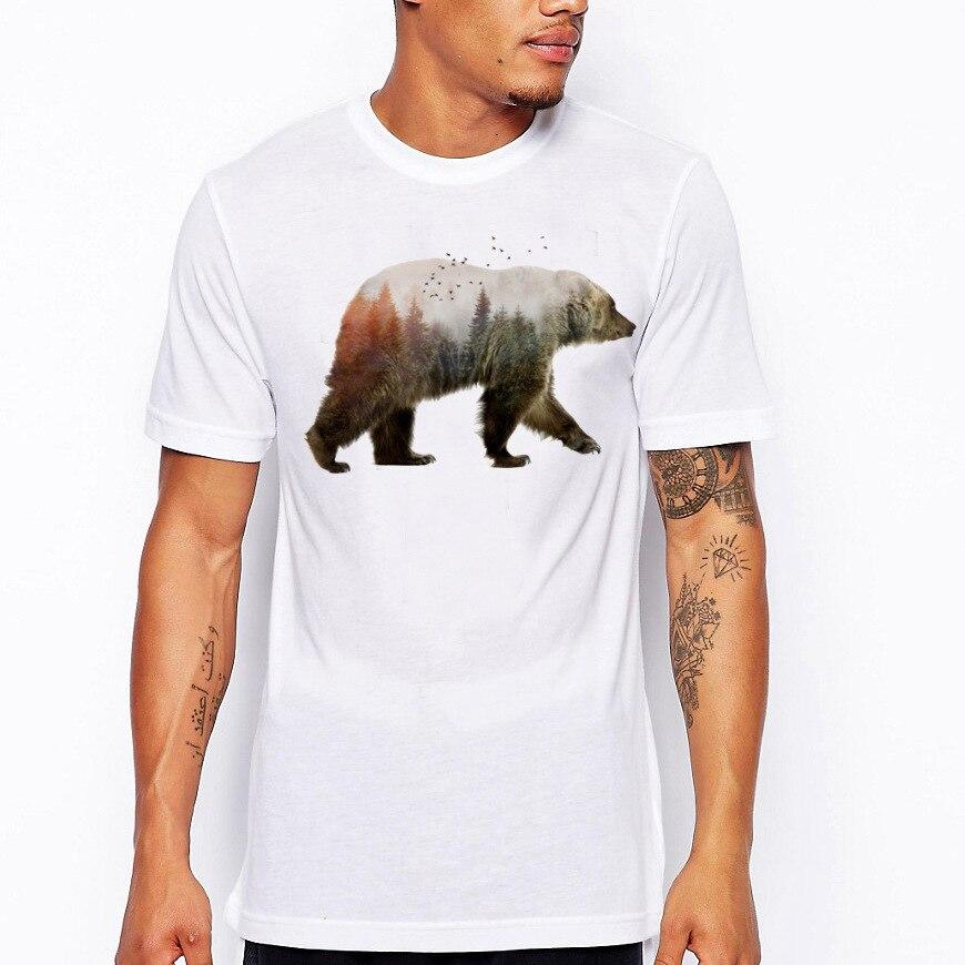 Hanukkah Short Sleeves O Neck California Bear T-shirt Men Clothing Summer Fashion Print Republic Vintage T Shirt