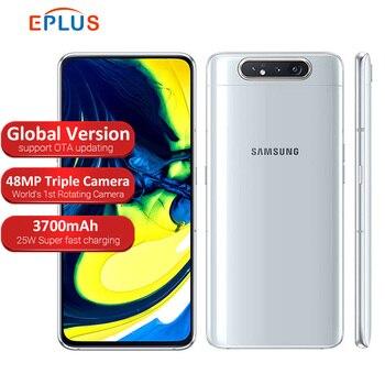 Перейти на Алиэкспресс и купить Глобальная версия samsung Galaxy A80 A805F/DS мобильный телефон с двумя sim-картами 8 Гб 128 ГБ 6,7 дюймSnapdragon 730 Android 3700 мАч NFC 4G смартфон