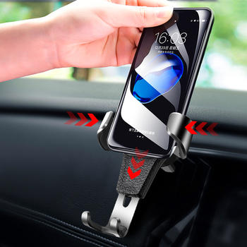 Car GPS Adjustable Phone Holder Car Air Vent Gravity Design Universal Mount Cradle Stand Portable Navigation Bracket for iPhone image