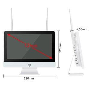 "Image 2 - Techage 8CH 1080P Wireless Security Camera System 12"" LCD NVR 2MP IR Outdoor Waterproof CCTV Wifi Camera Video Surveillance Set"