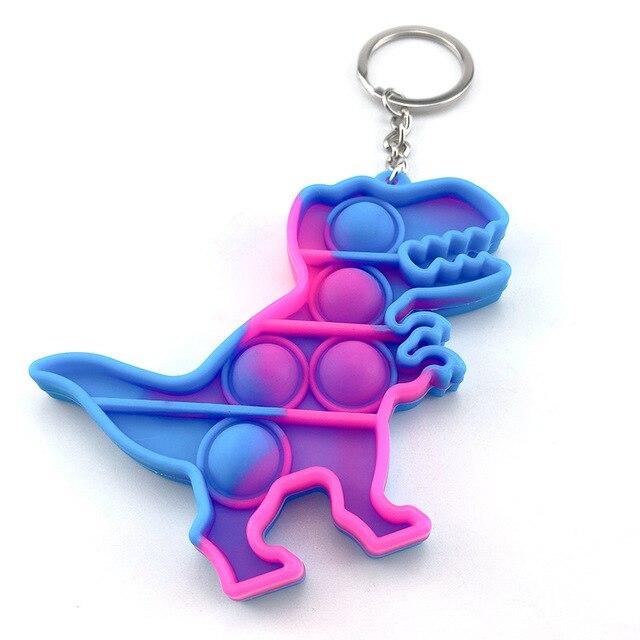 pop it fidget toy keychain