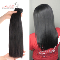 Double Drawn Brazilian Straight Virgin Hair Weave Bundles Arabella Hair For Top Customer 100% Human Hair Bundles With Closure