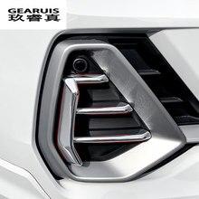 Alerón de parachoques delantero para coche, decoración de luz antiniebla, cubierta de marco, pegatinas, embellecedor para Audi Q3 2019, accesorios para automóviles