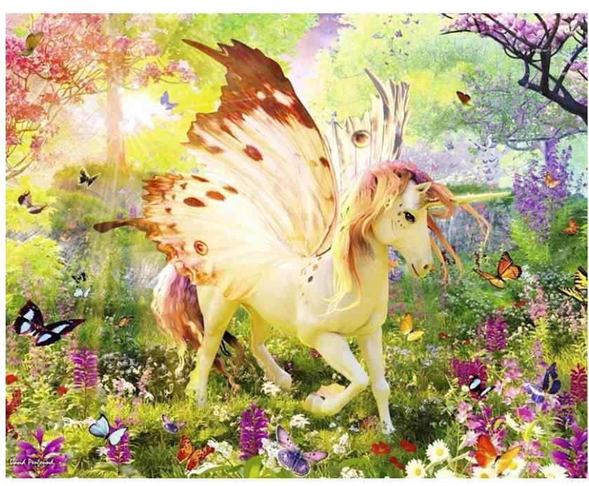 נוף יהלומי ציור pegasus יהלומי רקמת פרפר סוס ריינסטון פסיפס ציור תמונה דקור קיד מתנה חדש הגעה