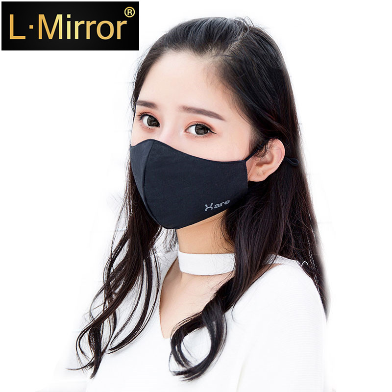 L.Mirror 1Pcs Fashion Rabbit Face Mouth Mask Anti Dust Filter Windproof Mouth-muffle Bacteria Proof Flu Care Reusable