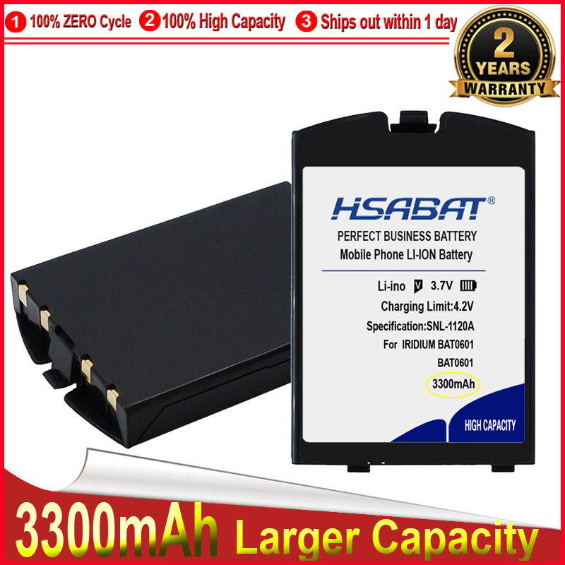 HSABAT 0 Cycle 3300mAh Li-ion Satellite Phone Battery for IRIDIUM BAT0601 BAT0602 High Quality Replacement Accumulator(China)