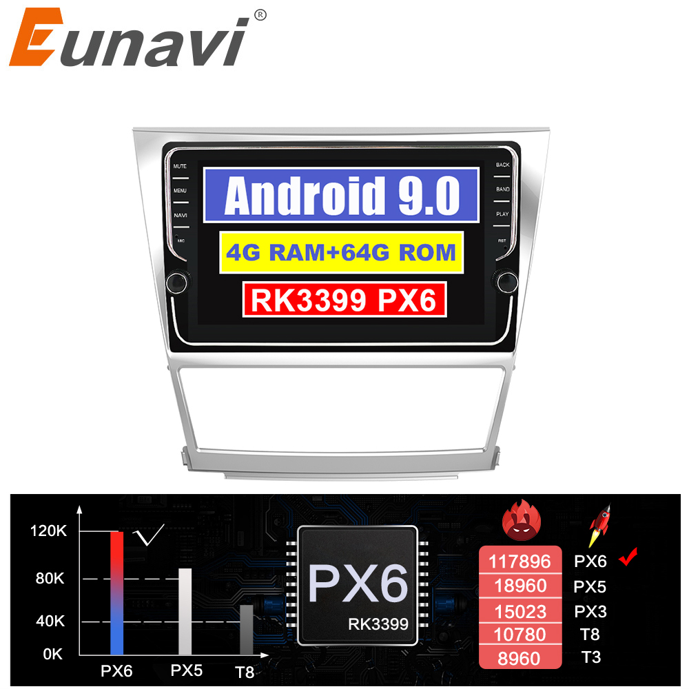 Eunavi IPS TDA7851 Android 9 car radio gps navigation for Toyota camry 2007 2008 2009 2010 2011 multimedia stereo player no dvd Car Multimedia Player    - title=