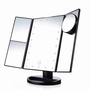 Led Makeup Mirror With Light Makeup Mirror Luminous Mirror 22Led Folding Makeup Mirror Led Small Mirror rechargeable motion sensor light mirror led makeup mirror rotation infrared induction makeup mirror battery operated or usb ca