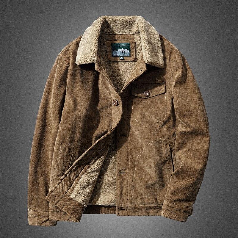 Inverno militar jaquetas homens casaco de veludo quente casaco de algodão grosso dos homens forro de lã casual plus size jaqueta overcoats 2020