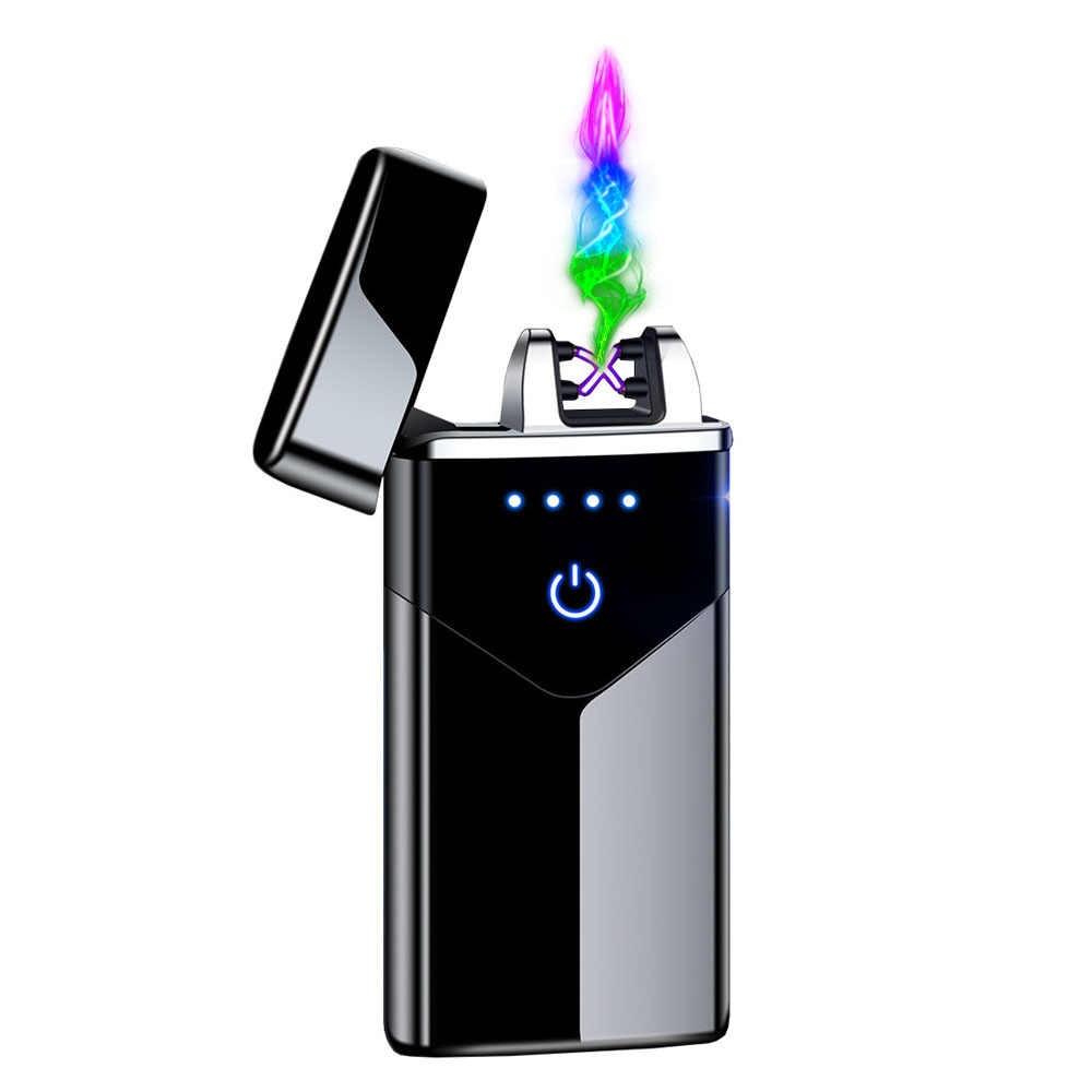 Briquet /électronique /à double arc /électrique USB rechargeable plasma sans flamme Coupe-vent