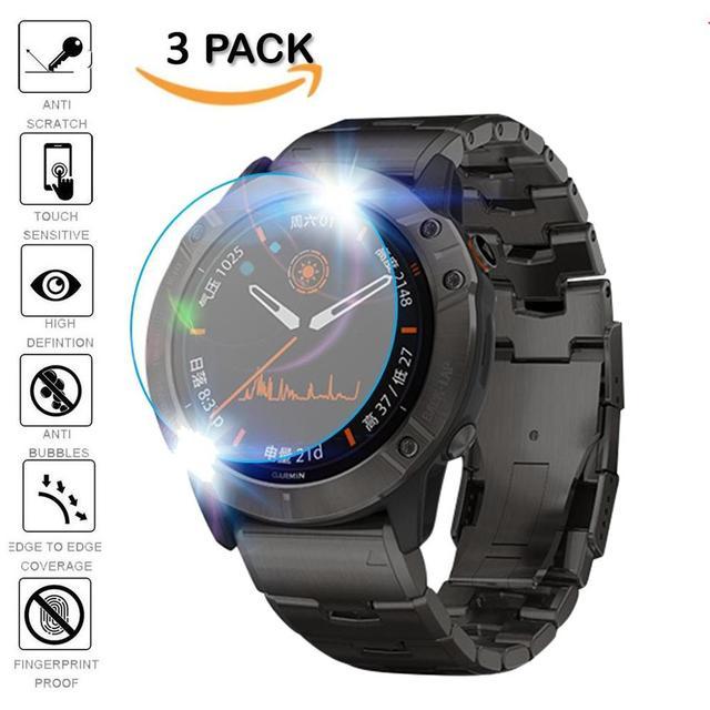 3Pcs מגן עבור Garmin Fenix 5 5S בתוספת 6S 6X6 פרו Ultra ברור מזג זכוכית סרט משמר פרימיום מגן מסך שעון סרט