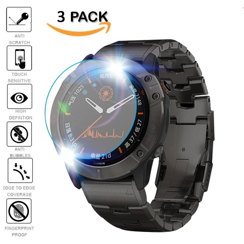 3Pcs Protective For Garmin Fenix 5 5s Plus 6S 6X 6 Pro Ultra Clear Tempered Glass Film Guard Premium Screen Protector Watch Film