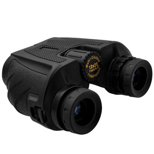 12x25 Compact Binoculars with Low Light Night Vision High Power Waterproof Binocular Professional Portable Binoculars Telescope 4
