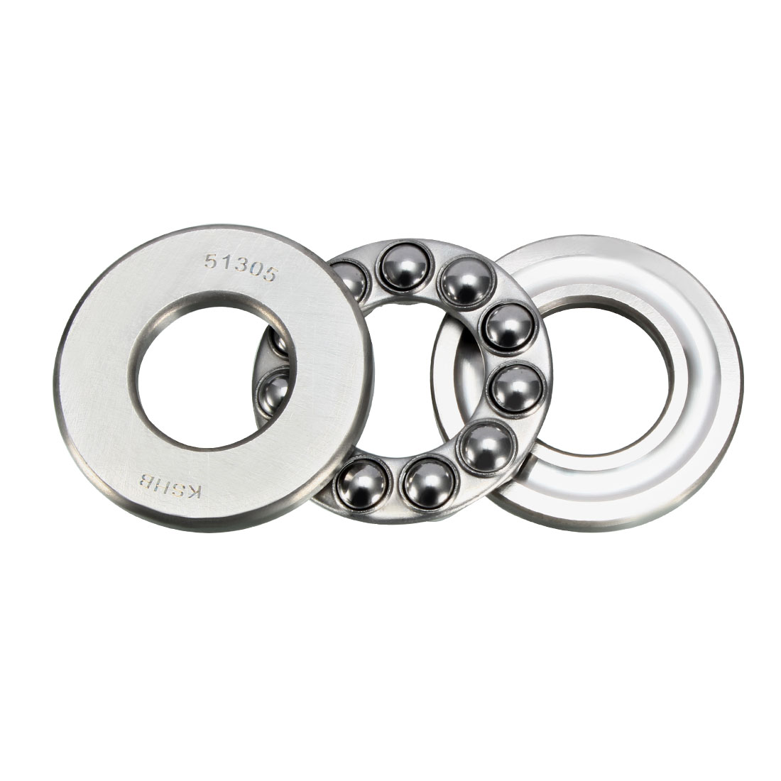 Uxcell Single Direction Thrust Ball Bearings 51104/51105 20mm X 35mm X 10mm/25mm X 42mm X 11mm Chrome Steel Wear Resistance