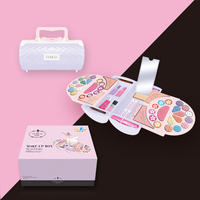 Kids Make Up Toy Set Pretend Play Princess Pink Makeup Beauty Fashion Safety Non toxic Kit Toys Plastic Toy For Girls Birthday