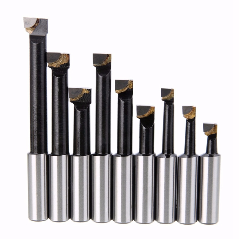 Promotion! MT4 Taper  F1 12 50Mm Boring Head with MT4 Shank and 9Pcs 12Mm Boring Bars Set  Boring Head Set|Lathe| |  - title=