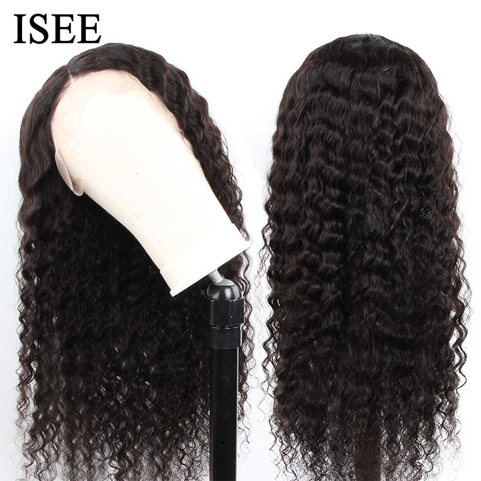 Malaysian Deep Wave Wigs For Women Remy ISEE HAIR Wigs 130% 150% 180% 250% Density  Loose Deep Wave Lace Front Human Hair Wigs