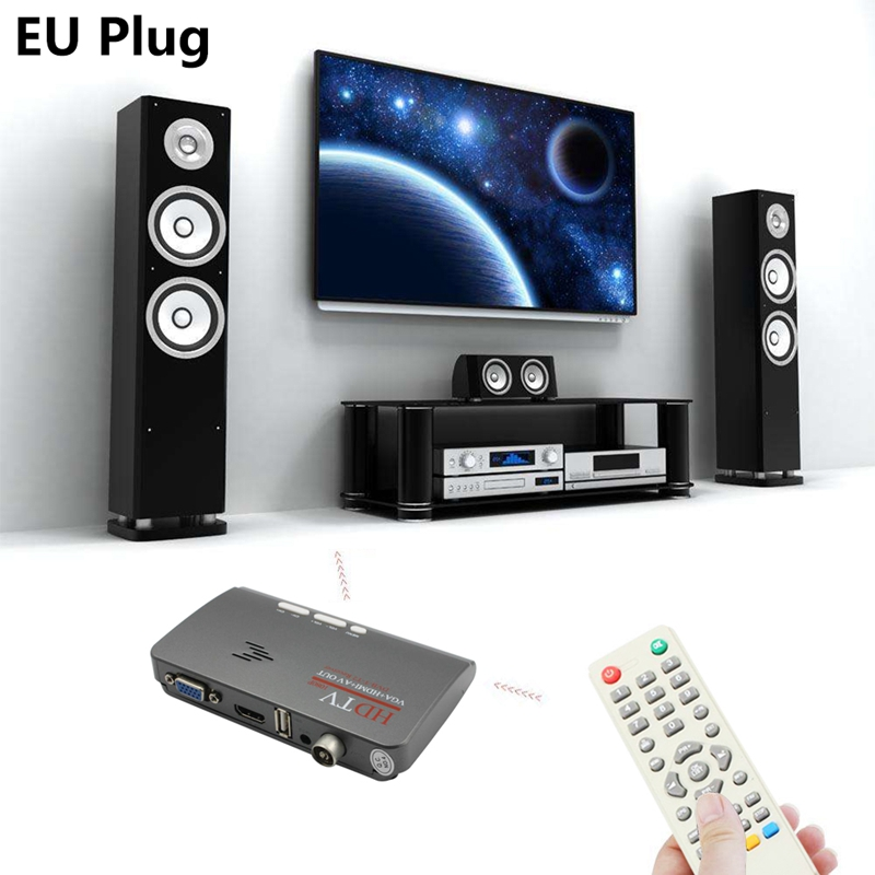 Digital  HDMI DVB-T/T2 Dvbt2 TV VGA Tuner Digital Receiver Converter With USB TV  Tuner Remote Control SWLA Digital TV Converter