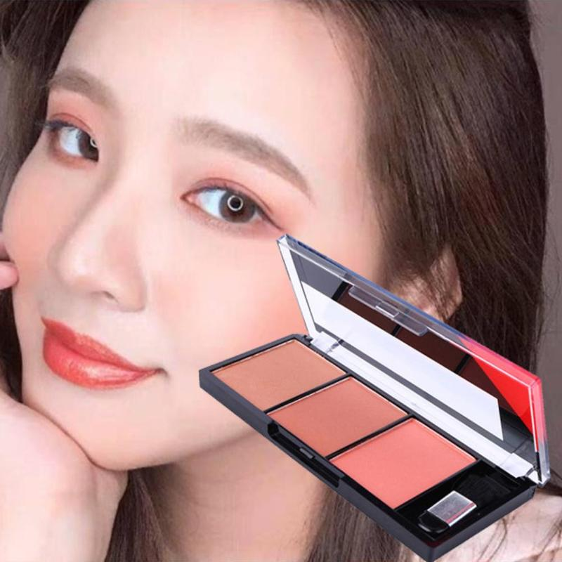 Easy To Wear Face Blush Palette Makeup Natural Powder Rouge Women Makeup Natural Blush Palette Durable Colors Blush With Brush