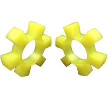 Polyurethane Hexagonal Elastic Ring Coupling Cushion Pad T-shaped Plum Blossom Water Pump Counter Wheel Pad Rubber Elastic Block